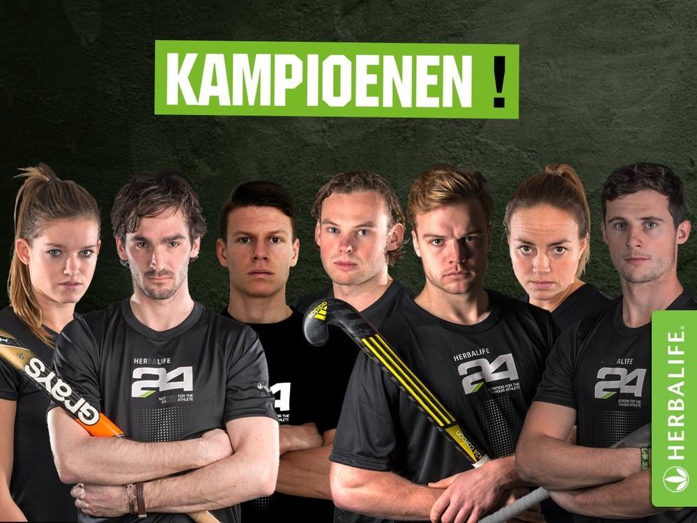 Hockeyspelers kampioen van Nederland met Herbalife24