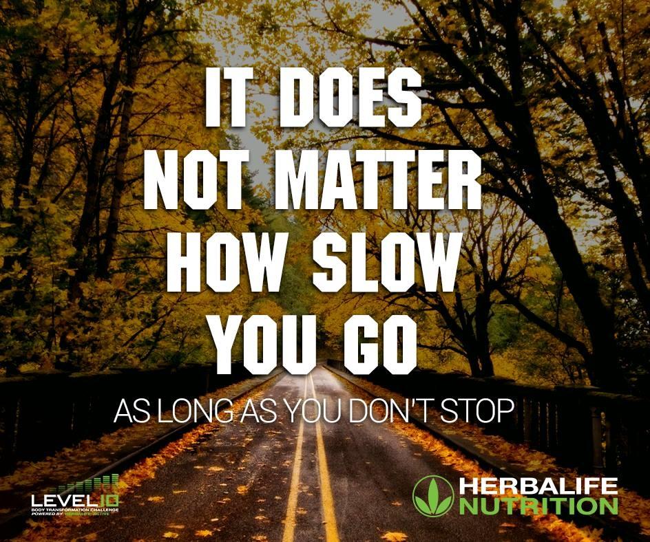 Stop nooit, hoe langzaam het ook gaat!